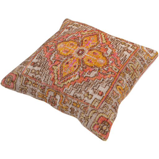 Germili Pillow ~ Beige, Coral, Dark Brown - Cece & Me - Home and Gifts