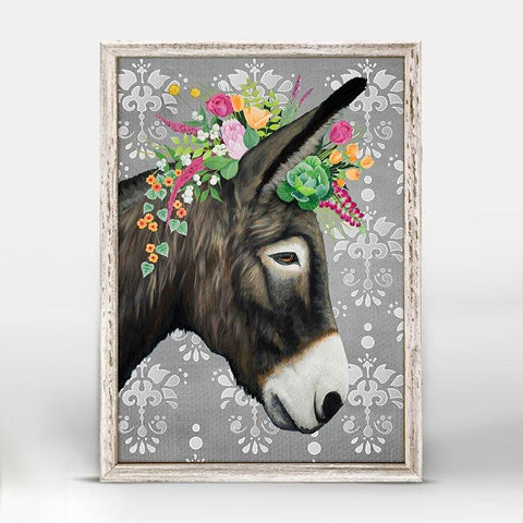 Gray Donkey Mini Framed Canvas - Cece & Me - Home and Gifts