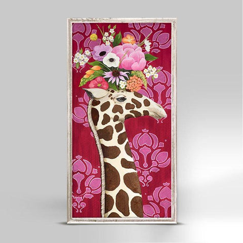 Haute House Giraffe Mini Framed Canvas - Cece & Me - Home and Gifts