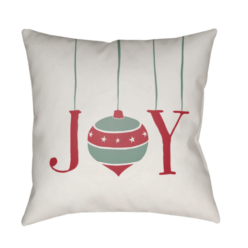 Holiday Joy Pillow ~ Cream