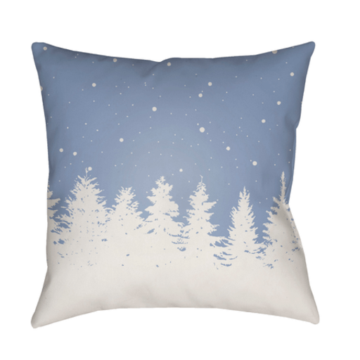 Holiday Trees Pillow ~ Blue