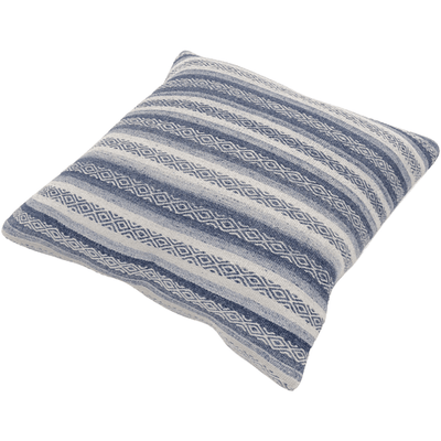 Isabella Pillow ~ Navy, Denim, White - Cece & Me - Home and Gifts