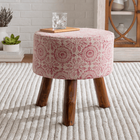 Indore Stool ~ Garnet - Cece & Me - Home and Gifts
