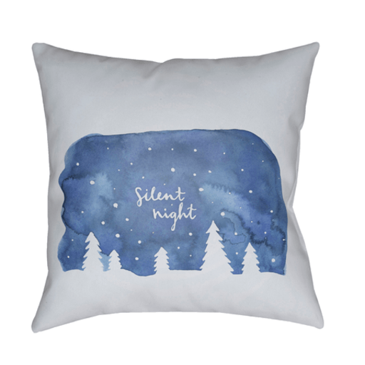 Silent Night Holiday Pillow ~ Blue - Cece & Me - Home and Gifts