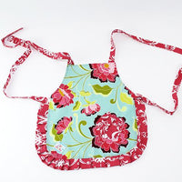 Play Perfect Kids Apron Pink Peonies & Teal - Cece & Me - Home and Gifts - 2