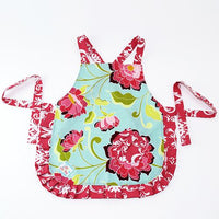 Play Perfect Kids Apron Pink Peonies & Teal - Cece & Me - Home and Gifts - 1