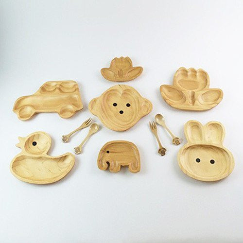 Kids Wooden Plate ~ Elephant Jr.