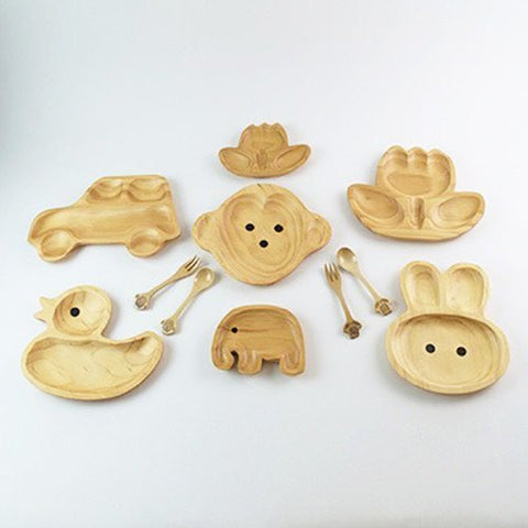 Image of Kids Wooden Plate ~ Monkey - Cece & Me - Home and Gifts