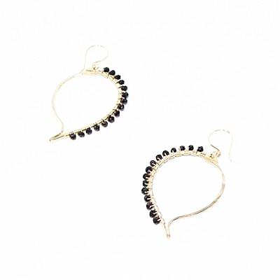 Paisley Earrings - 14k Goldfill ~ Onyx - Cece & Me - Home and Gifts