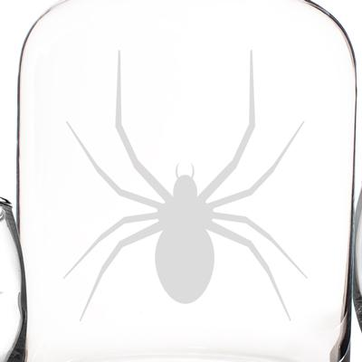 Personalized Toxic Spider Glass Decanter with Wood Stopper Set - Cece & Me - Home and Gifts