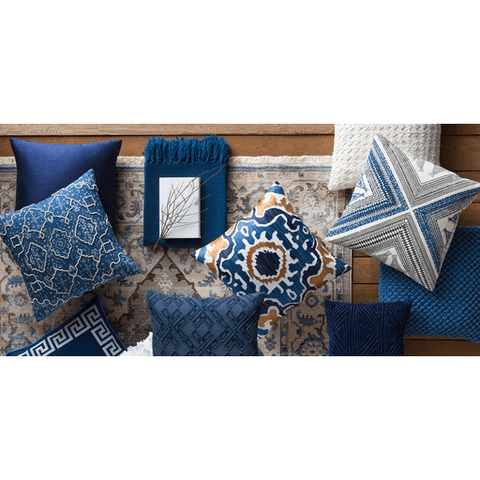 Subira Pillow ~ Navy - Cece & Me - Home and Gifts