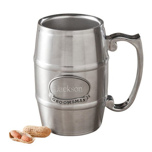 Personalized Tankard with Pewter Medallion - Cece & Me - Home and Gifts