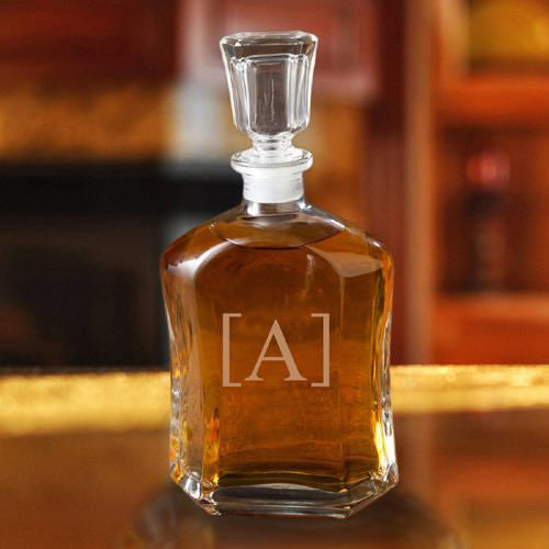 Personalized Whiskey Glass Decanter ~ Single Initial - Cece & Me - Home and Gifts