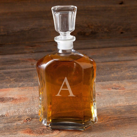 Image of Personalized Whiskey Glass Decanter ~ Single Initial - Cece & Me - Home and Gifts