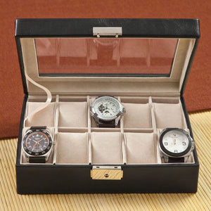 Single Initial Personalized Men's Watch Box - Cece & Me - Home and Gifts