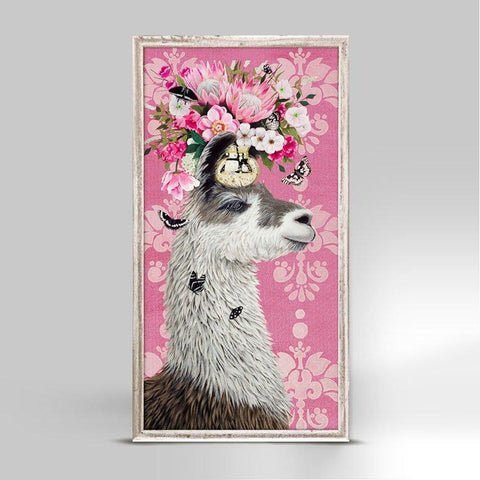 Proud Pink Llama Mini Framed Canvas - Cece & Me - Home and Gifts
