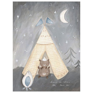 Sleepy Campers Blue Wall Art - Cece & Me - Home and Gifts