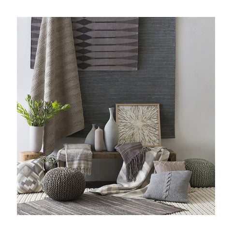 Image of Bermuda Pouf ~ Light Gray - Cece & Me - Home and Gifts