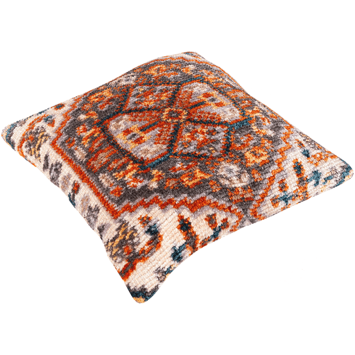 Savona Pillow ~ Burnt Orange, Charcoal, Medium Gray - Cece & Me - Home and Gifts