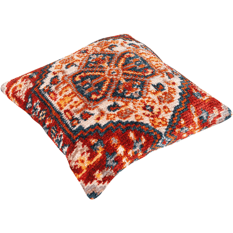 Savona Pillow ~ Burnt Orange, Bright Red - Cece & Me - Home and Gifts