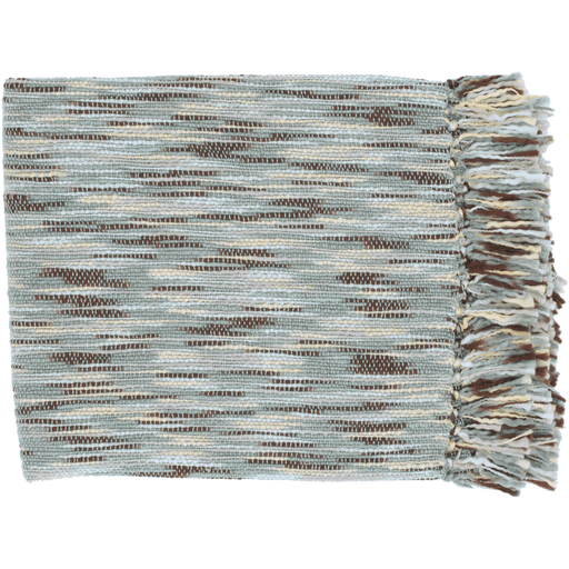 Teegan Throw ~ Pale Blue/Butter/Dark Brown/Aqua - Cece & Me - Home and Gifts