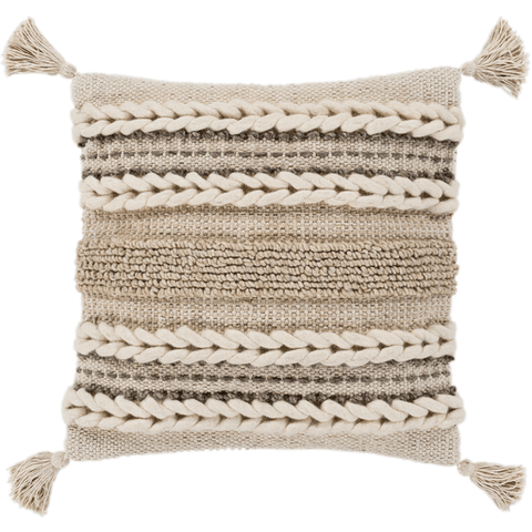 Image of Accretion Pillow ~ Ivory, Taupe, Khaki, Cream - Cece & Me - Home and Gifts