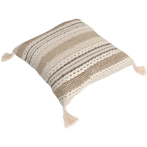 Accretion Pillow - Ivory, Taupe, Khaki, Cream
