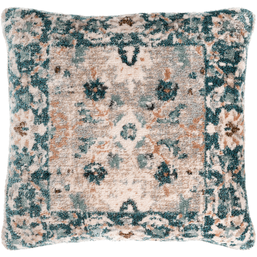 Accretion Pillow - Teal, Beige