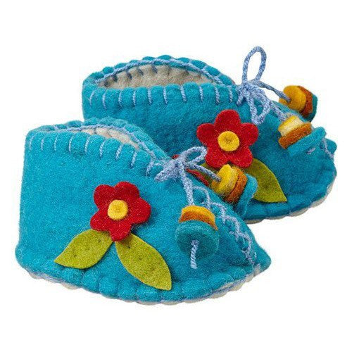 Baby Booties (6-12  mo.) ~ Turquoise - Cece & Me - Home and Gifts