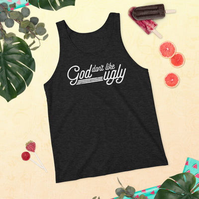 Unisex Tank Top God Don't Like Ugly