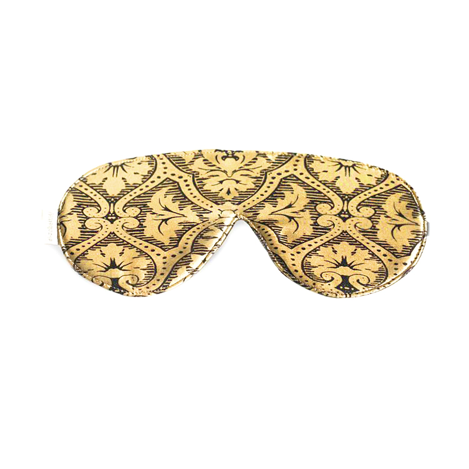 Black Gold Damask Sleep Mask