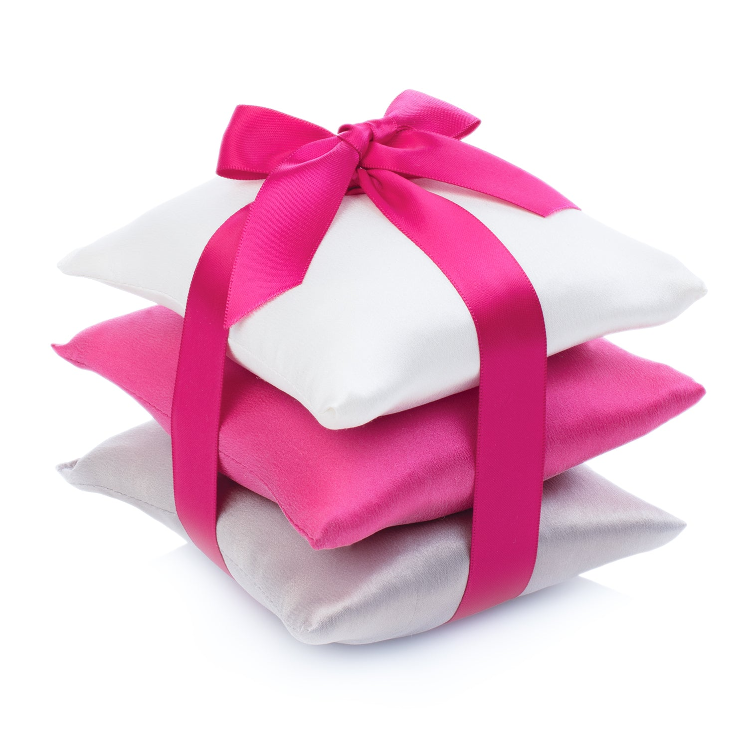 Hot Pink Silk Sachet Set