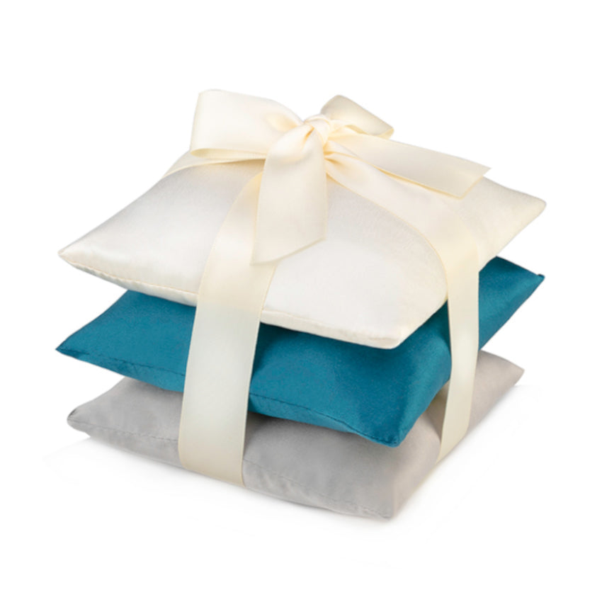 Teal Silk Sachet Set