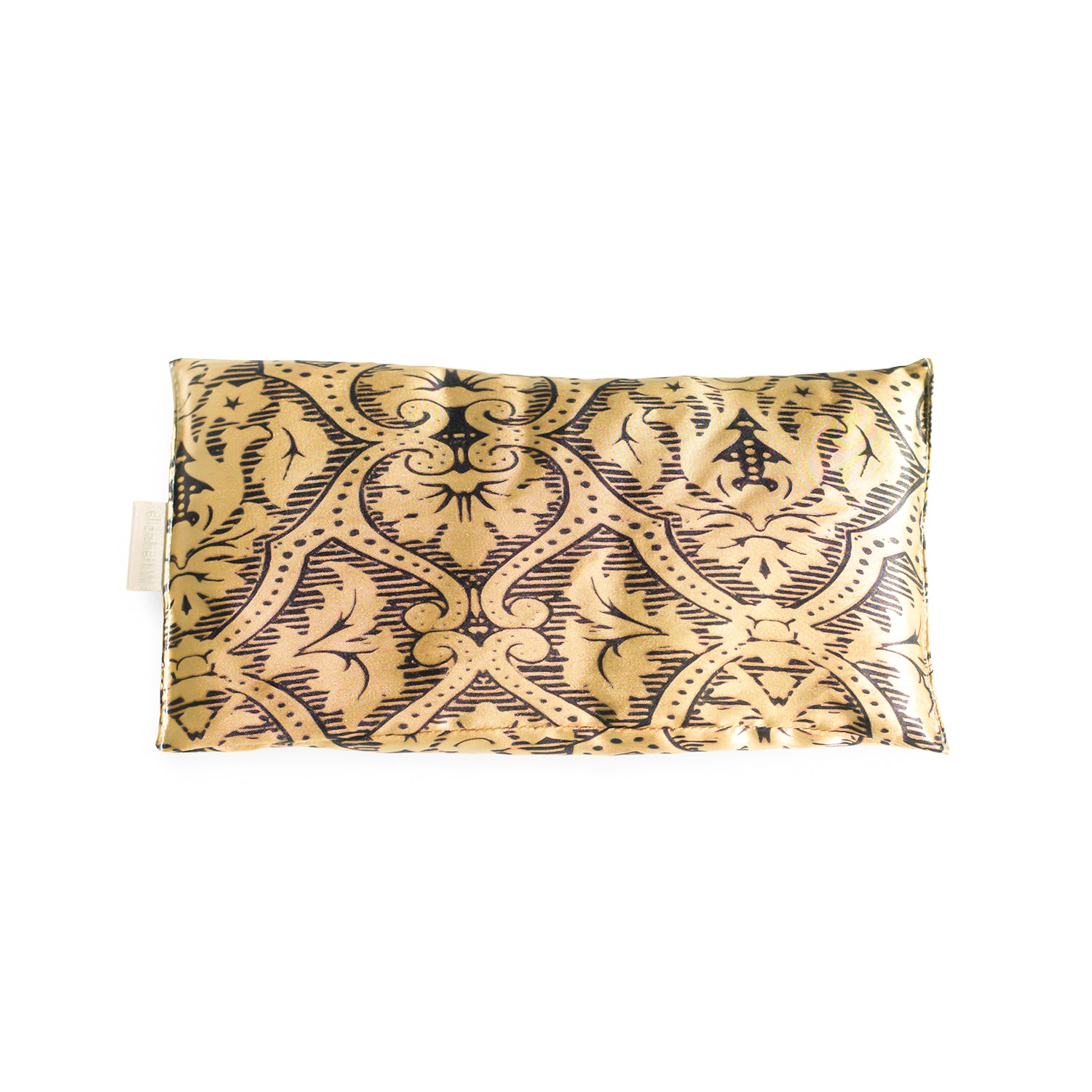Black Gold Damask Eye Pillow