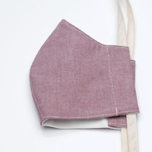 Face Mask Burgundy Oxford