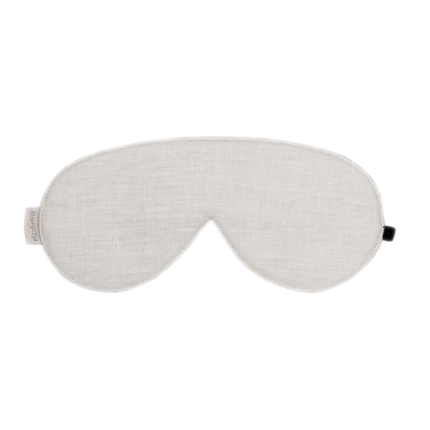 Washed Ivory Linen Sleep Mask