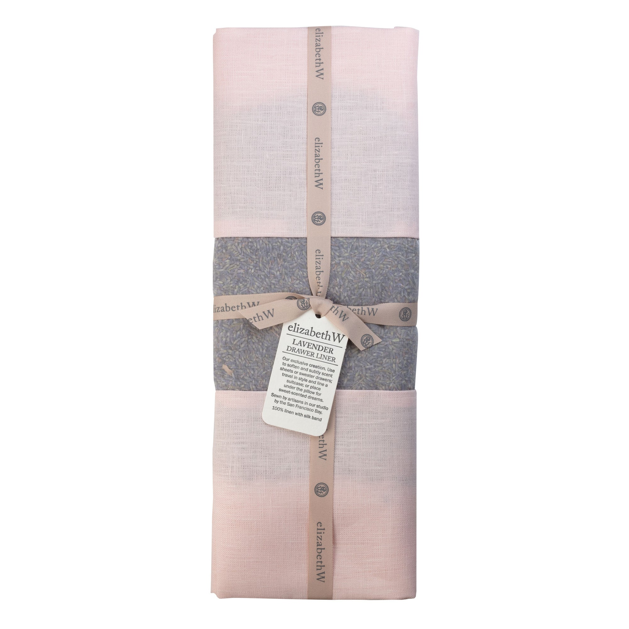 Lavender Drawer Liner in a pink colored linen