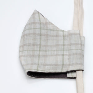 Face Mask Plaid Linen
