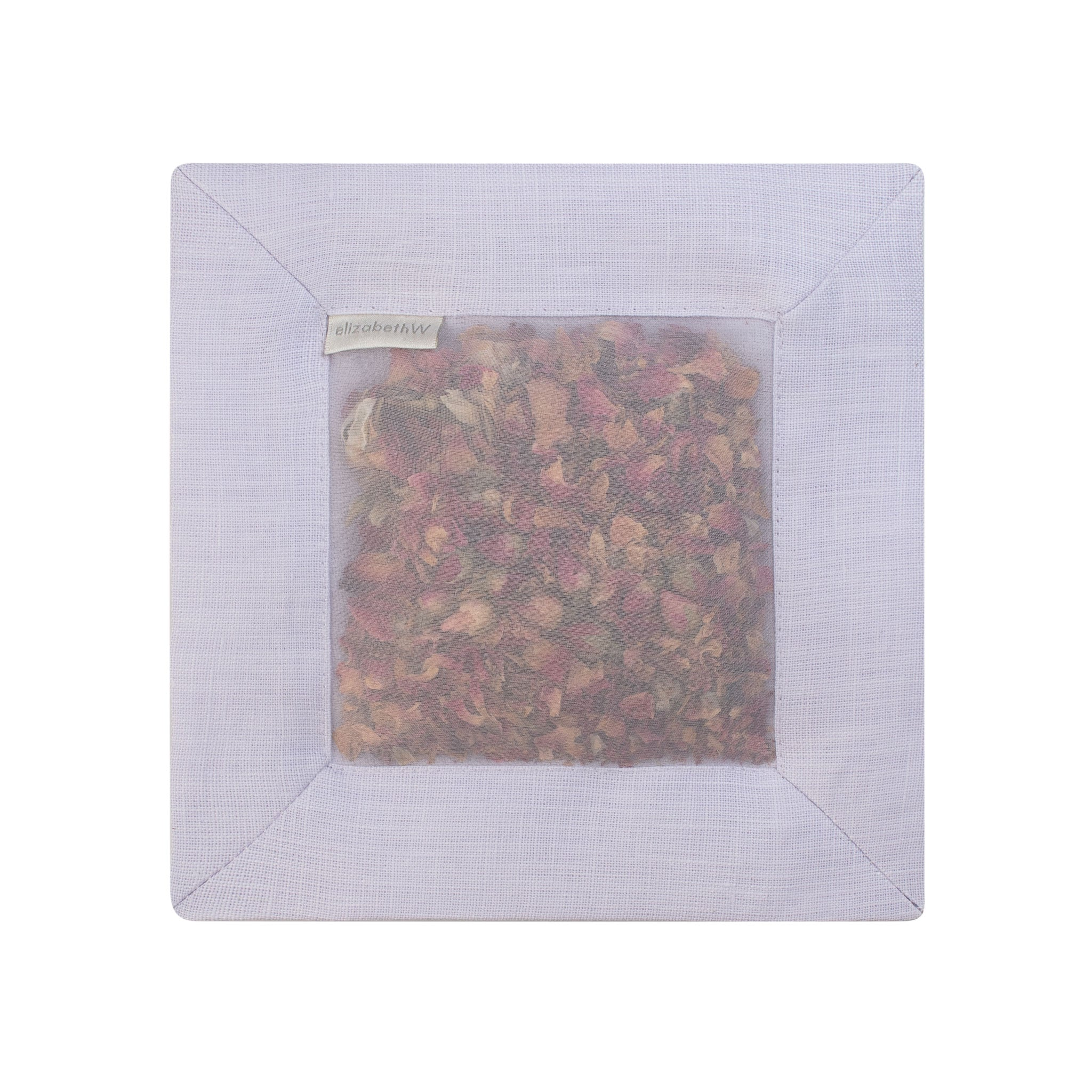 Rose Square Sachet Purple Linen