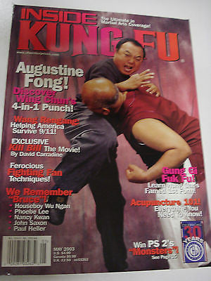 5/2003 Inside Kung Fu AUGUSTINE FONG, Houseboy Wu Ngan, Phoebe Lee, Saxon,Heller - Valley Martial Arts Supply