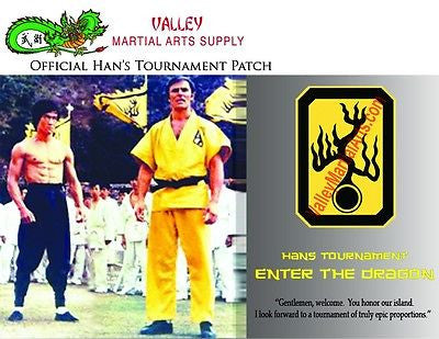 "Bruce Lee ""Enter The Dragon"" Han's Tournament Patch - certificate, Autographed - Valley Martial Arts Supply"