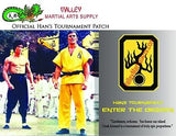 "Bruce Lee ""Enter The Dragon"" Han's Tournament Patch - certificate, Autographed"
