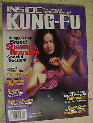 Inside Kung Fu - November 2000 Shannon Lee, Brandon Lee - Special Edition - Valley Martial Arts Supply
