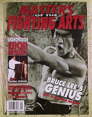 Masters OF The Fighting Arts - Sept 2000 Bruce Lee's Genius, Eiichi Miyazato - Valley Martial Arts Supply