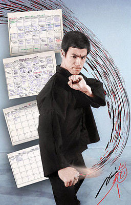 "Bruce Lee ""Workout Calendar"" Poster - Valley Martial Arts Supply"