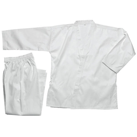 Karate Gi, Bleached White - 8oz - Valley Martial Arts Supply