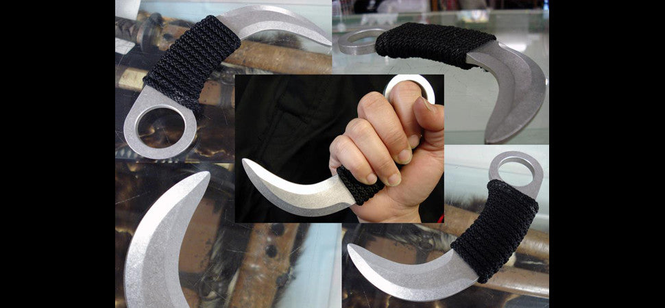 Aluminum training korambit