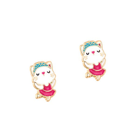 Ballerina Kitty Cutie Stud - Milly's Boutique