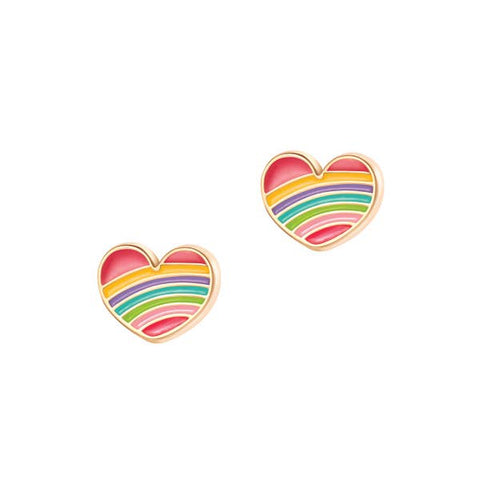 Rainbow Heart- Cutie Studs - Milly's Boutique
