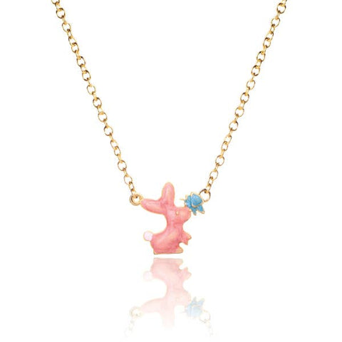 Pink Rabbit with Butterfly Necklace - Milly's Boutique